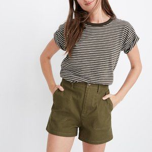 [NWT] Madewell Camp Shorts in Olive